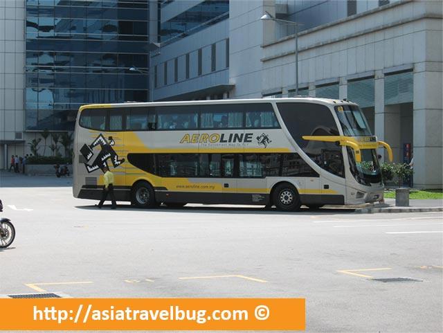 Aeroline Bus from Singapore to Kuala Lumpur