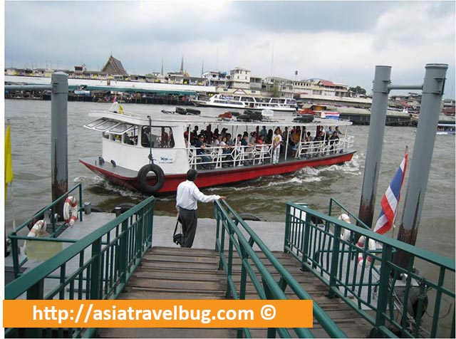 Ferry from Wat Arun to Wat Pho