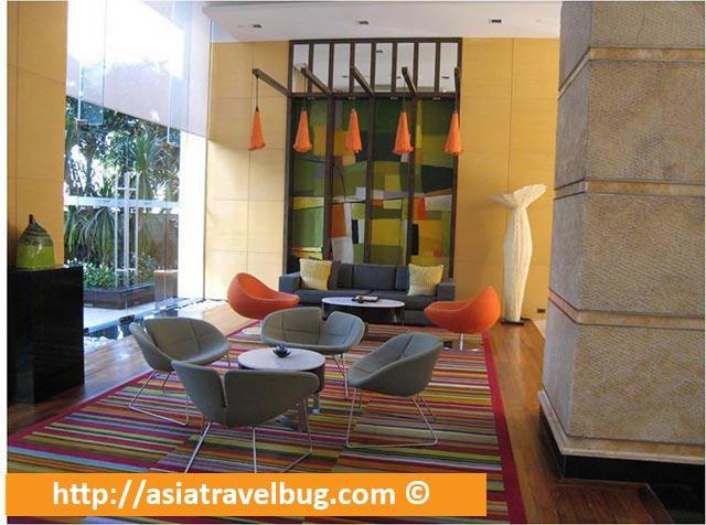 Chic Lobby of Urbana Langsuan Hotel