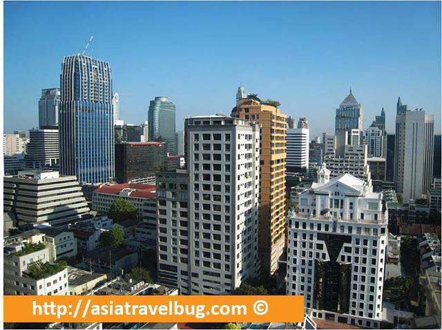 Lovely Bangkok City View of our Studio at Urbana Langsuan Hotel