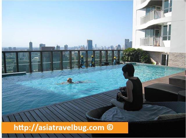 Inviting Pool at the Roof Deck of Urbana Langsuan Hotel
