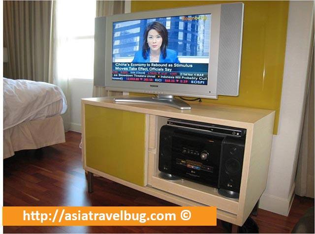 TV in our Room in Urbana Langsuan Hotel