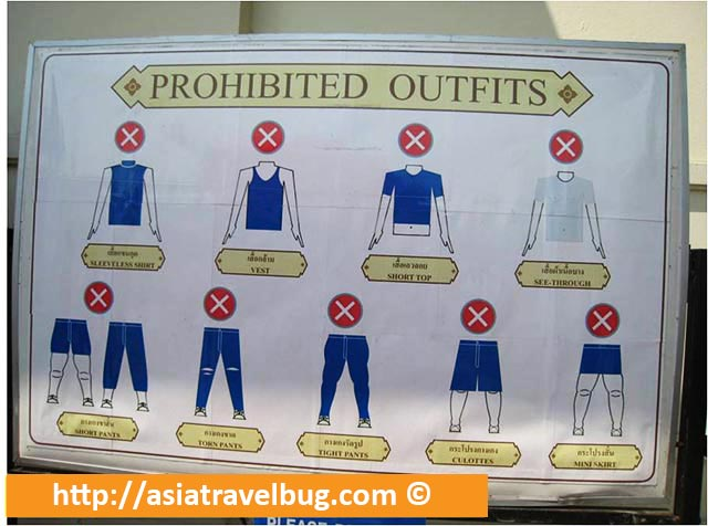 Prohibited Outfits in Grand Palace