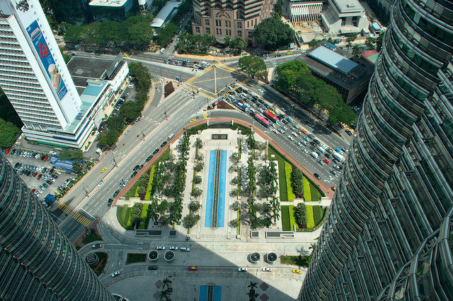 View from Petronas Twin Towers Skybridge