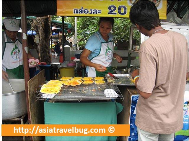 Thai Pancakes at Taling Chan Floating Market