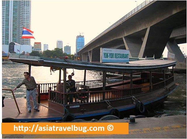 Yok Yor River Bus Docked in Central Pier
