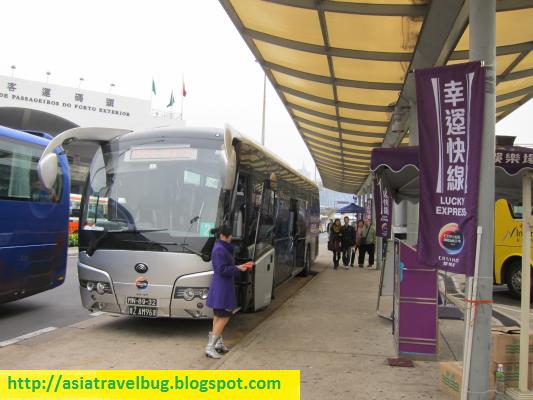Bus transfer from Macau Airport