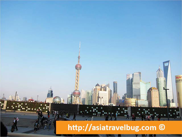Pudong City Skyline View from The Bund