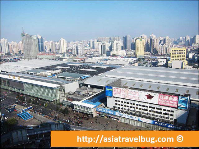 Shanghai Railway Station just behind Grand Mercure  Shanghai Zhongya