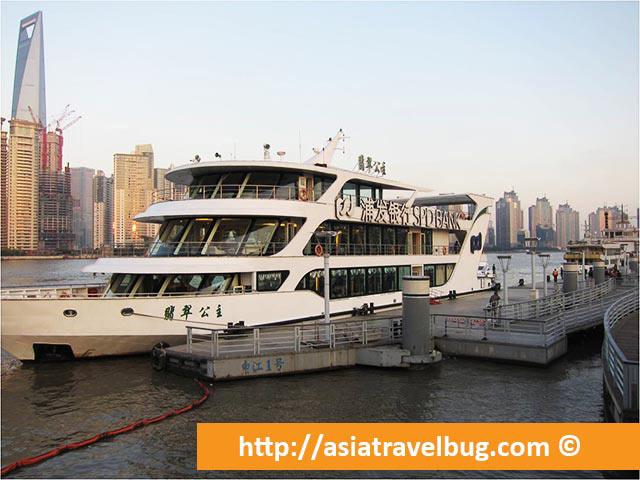 A Boat in Huangpu River
