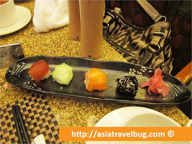 Sushi at Yi Cafe Shangri-la Pudong
