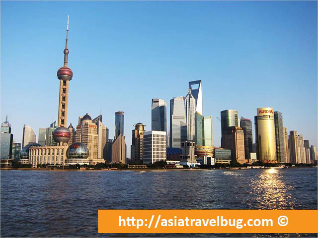 View of Pudong City Skyline from The Bund