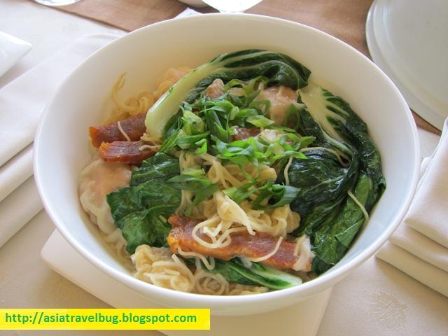 Wanton Noodles with Barbequed Pork c/o Shangri-la Mactan room service