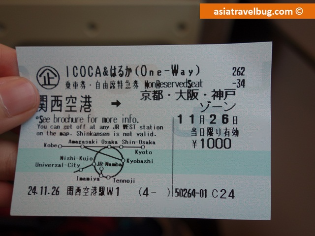 Discounted 1000 Yen Haruka Ticket from Haruka Icoca Card Package