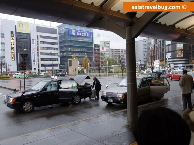 Taxi Bay Outside JR Kyoto Station