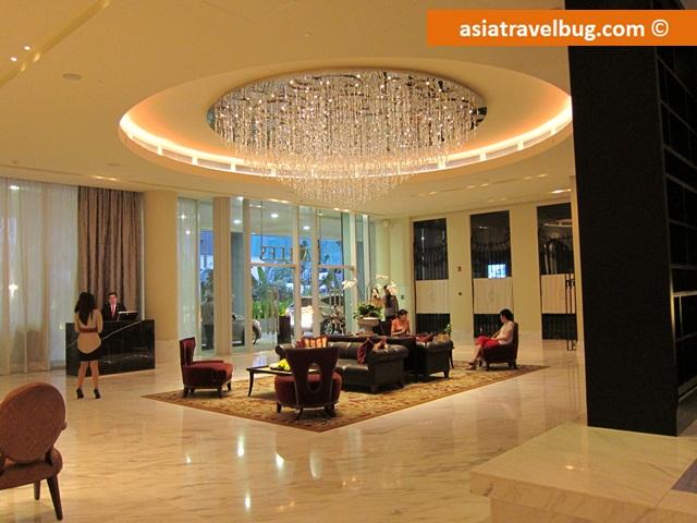 Lobby of Raffles Makati
