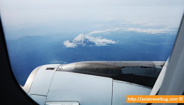 mount-fuji-plane | tokyo itinerary last day