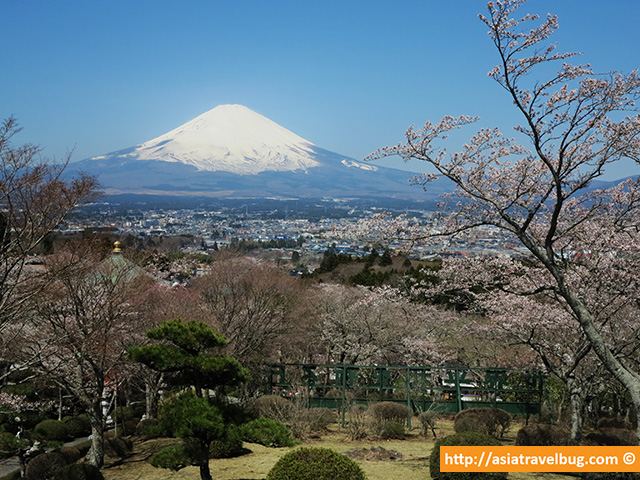 View of Mount Fuji from the Viewing Deck in Heiwa Peace Park, Gotemba