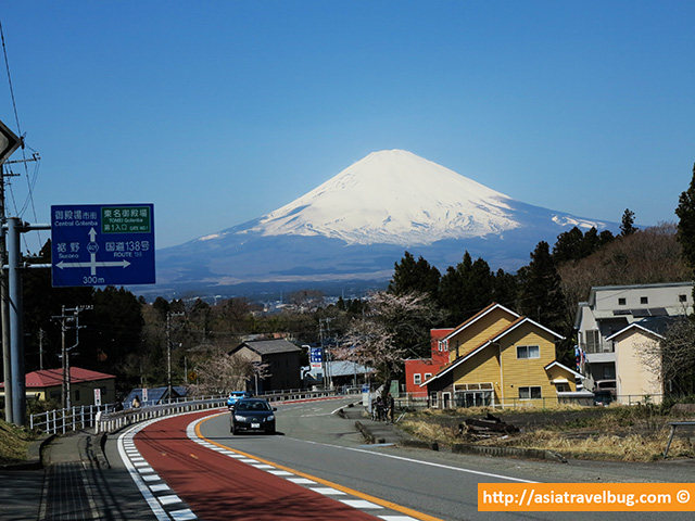 Mount Fuji View Just Outside Heiwa Park in Gotemba