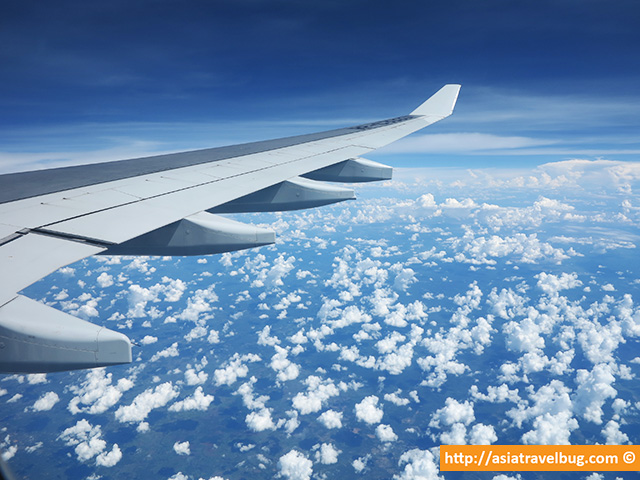 Bangkok travel - bangkok flight from the plane
