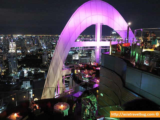 Bangkok travel - roof top bar at Red Sky Centara Grand