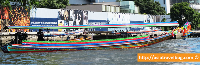 A Long Tail Boat in Chao Phraya River