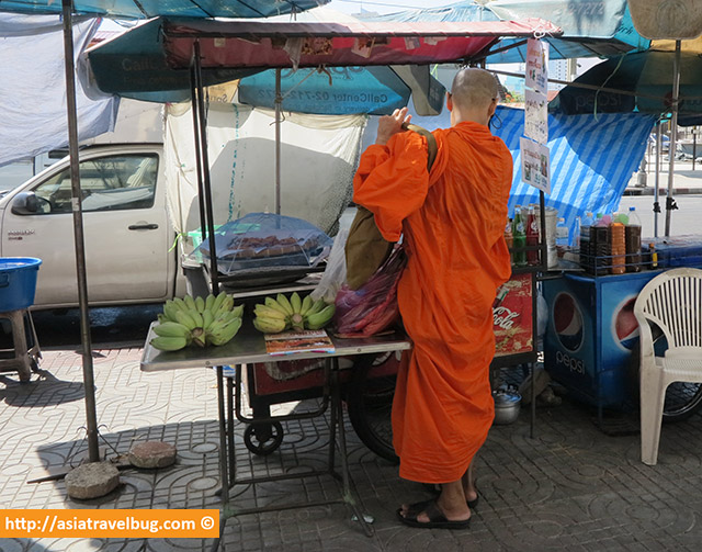 Monk Buying Banana Fritters