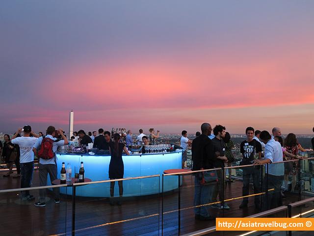 Sunset at Octave Bar, Bangkok Marriott Sukhumvit Soi 57