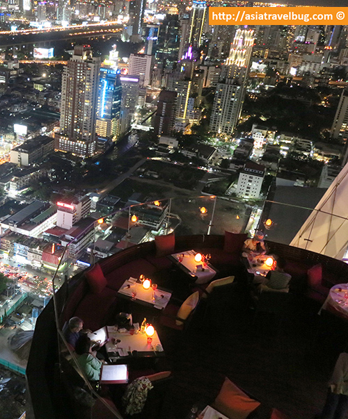 Night View of Red Sky Restaurant from Red Sky Bar
