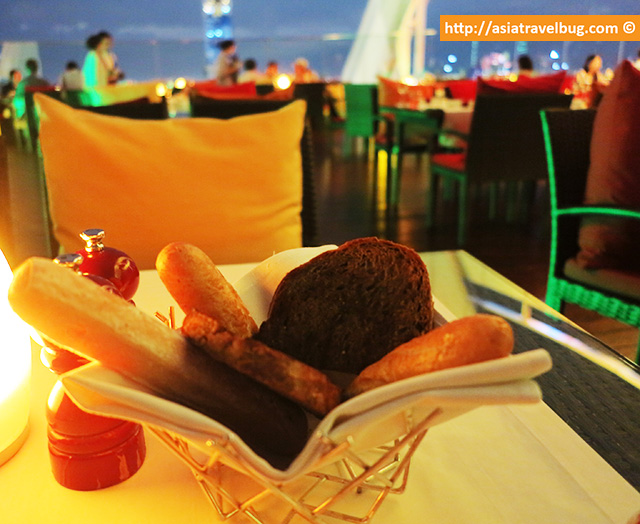 Complimentary French Bread, Perfect to Pair with Starters | Red Sky Bangkok