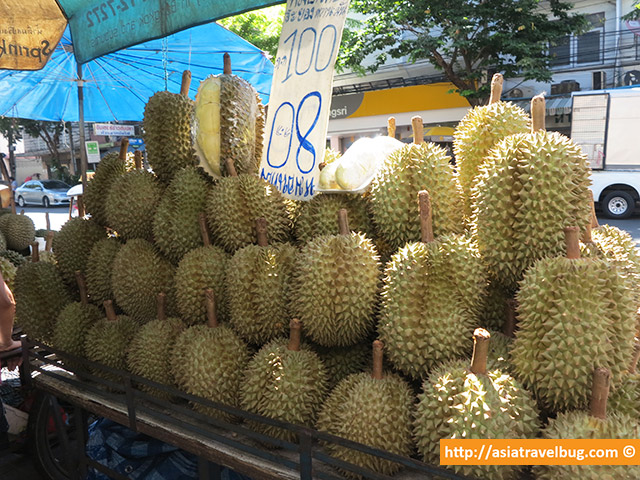 Durians for Sale in Tha Din Daeng, Thonburi