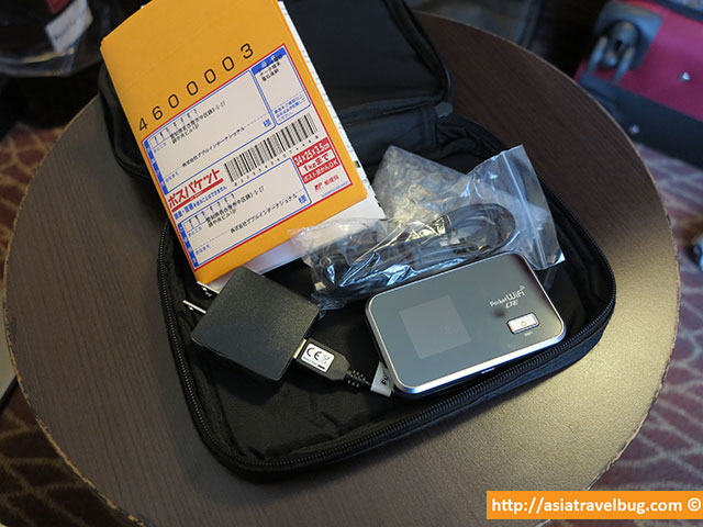 Pupuru Pocket Wifi Japan Pouch Contents