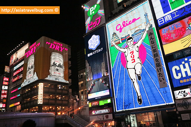 The Famous Glico Man at Dotonbori Namba where to stay in osaka