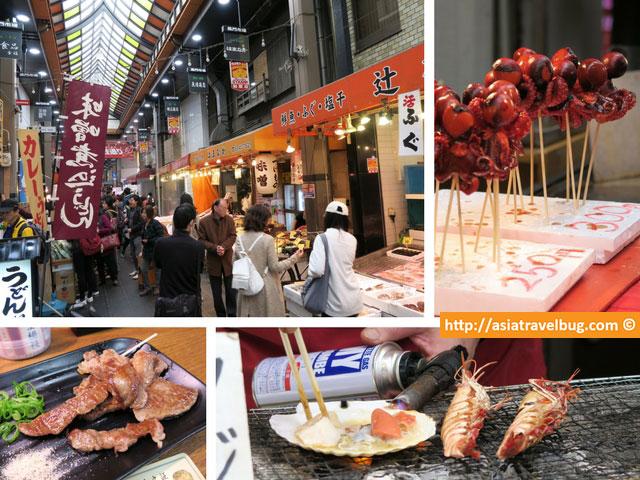 Kuromon Ichiba Market at Nippombashi Namba Osaka