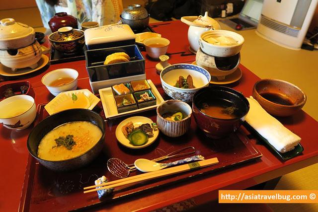 gion hatanaka kaiseki breakfast