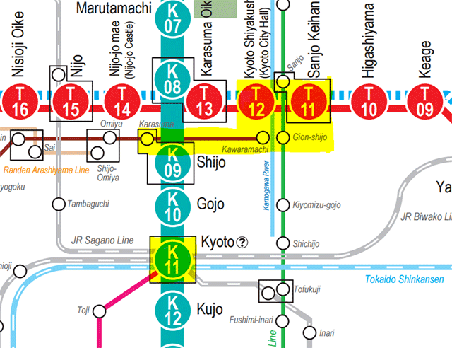 kyoto railway map