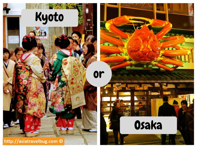 Where to Stay: Kyoto or Osaka?