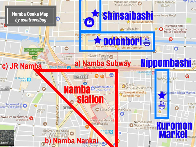 where to stay in osaka - namba