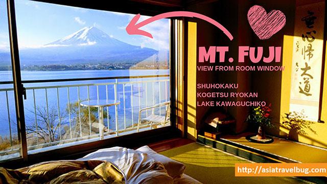 ryokan near tokyo Room with Mt Fuji View at Shuhokaku Kogetsu