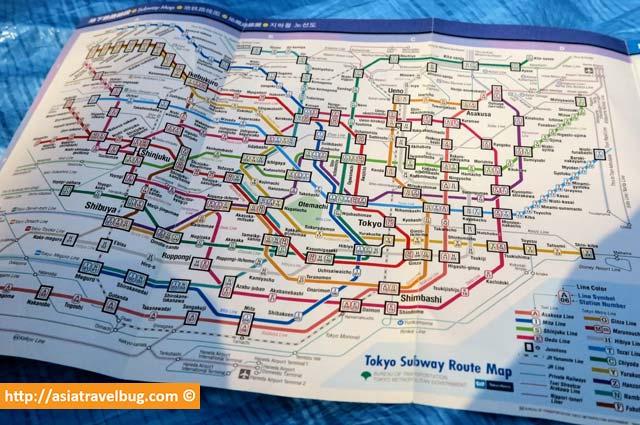tokyo subway paper map