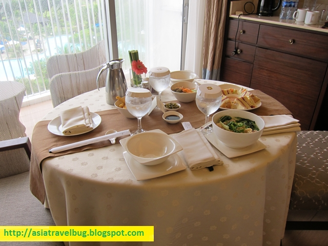 Lovely In Room Dining Set Up