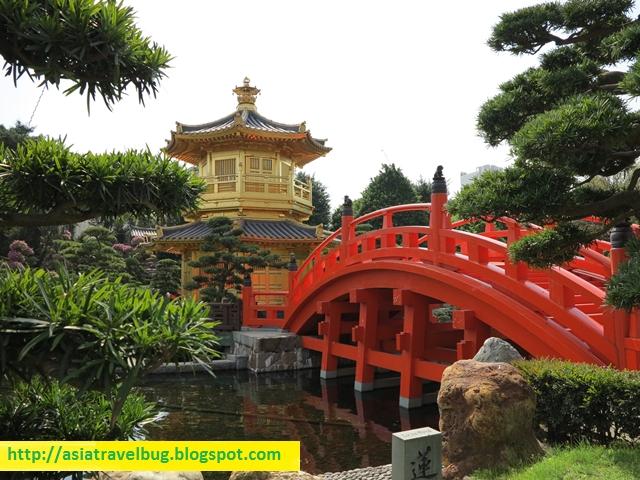 the very picturesque temple in the center of nan lian garden - Nan Lian Garden
